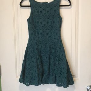 Bb Dakota fit and flare teal dress size 0